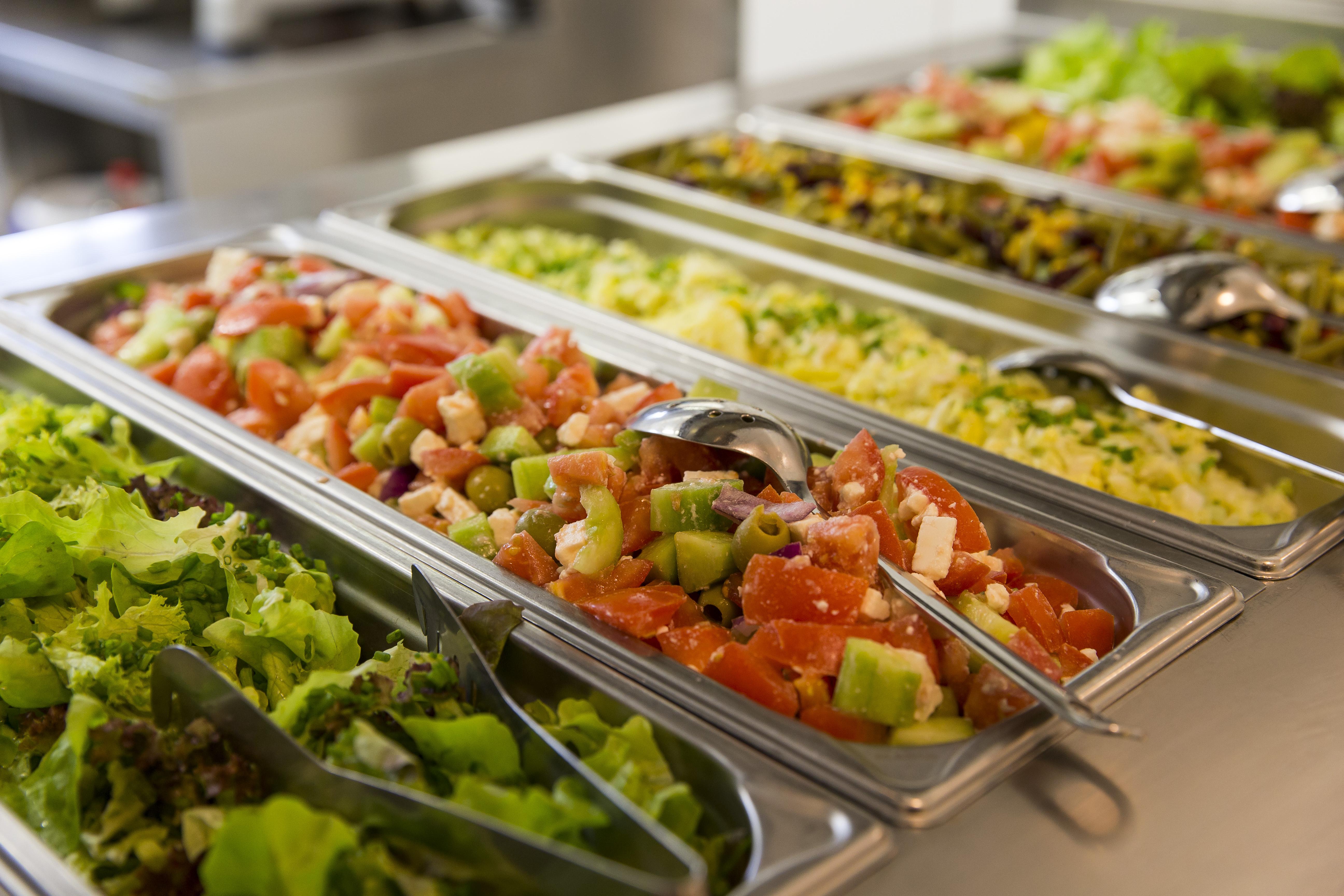 Cafeteria salad buffet