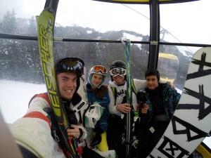 kevin skiing