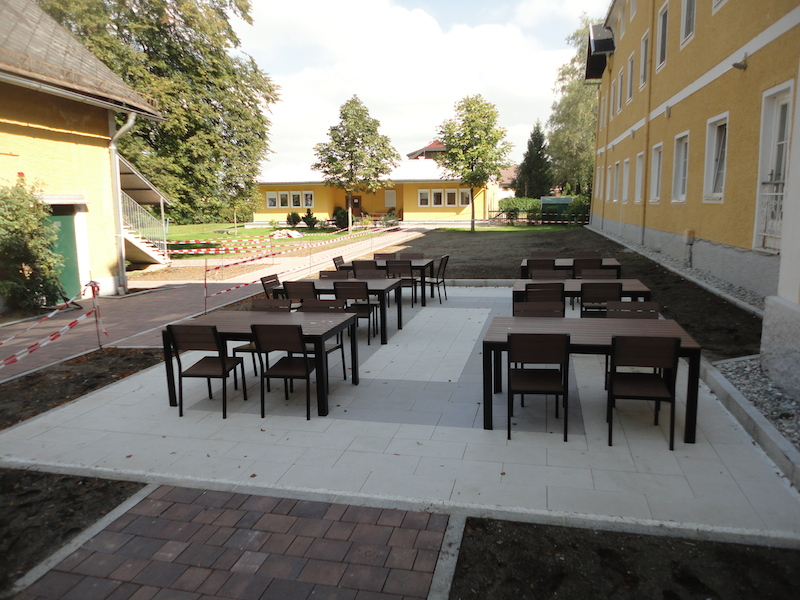 New outdoor seating area